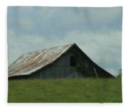 Wv Barn Fleece Blanket