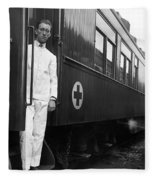 Ww I: Red Cross Railroad Fleece Blanket