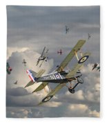 Ww1 - 'wings' Fleece Blanket