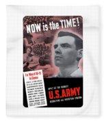 Ww2 Army Recruiting Poster Fleece Blanket