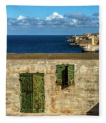 Ww2 Fortification Door Fleece Blanket