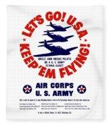 Us Army Air Corps - Ww2 Fleece Blanket