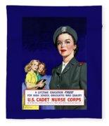 Ww2 Us Cadet Nurse Corps Fleece Blanket