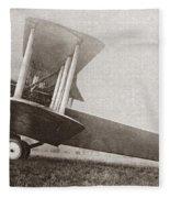 Wwi: British Bomber Fleece Blanket
