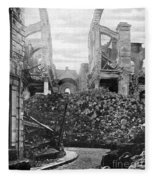 Wwi, Ruins Of Arras Cathedral Fleece Blanket