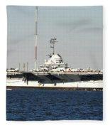 Wwii Aircraft Carrier Uss Yorktown Fleece Blanket