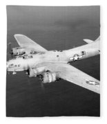 Wwii, Boeing B-17 Flying Fortress, 1940s Fleece Blanket