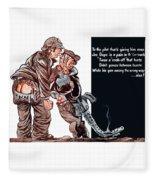 Wwii Joe Dope Cartoon Fleece Blanket