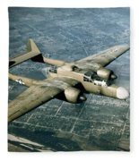 Wwii, Northrop P-61 Black Widow, 1940s Fleece Blanket