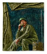 Wwii Radioman Fleece Blanket
