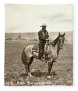 Wyoming: Cowboy, C1883 Fleece Blanket