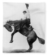 Wyoming: Cowboy, C1911 Fleece Blanket