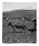 Wyoming: Cowboys, C1890 Fleece Blanket