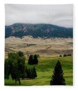 Wyoming Landscape 51a Fleece Blanket