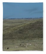 Wyoming Pronghorns Fleece Blanket