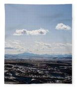 Wyoming Skies Fleece Blanket