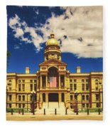 Wyoming State Capitol - Cheyenne Fleece Blanket