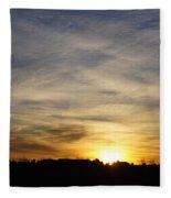 Wyoming Sunrise Fleece Blanket