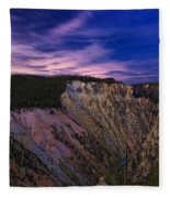 Wyoming Sunset Fleece Blanket