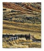 Wyoming X Fleece Blanket