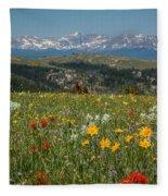 Wyoming's Winds Fleece Blanket