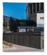 Xerox Tower Entrance Fleece Blanket