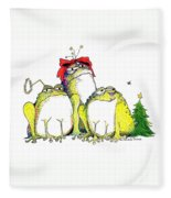Xmas Bows Fleece Blanket