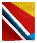 Xochimilco Boat Abstract 1 Fleece Blanket