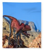 Xuanhanosarus In The Desert Fleece Blanket