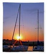 Yacht Club Sunrise Fleece Blanket