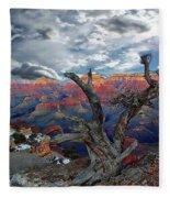 Yaki Point Grand Canyon Fleece Blanket