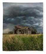 Yale Supercell Pano  Fleece Blanket