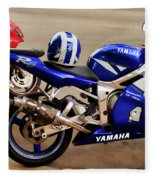 Yamaha Yzf-r6 Motorcycle Fleece Blanket