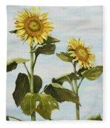 Yana's Sunflowers Fleece Blanket