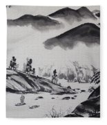 Yangze River Fleece Blanket