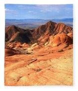 Yant Flat Candy Cliffs Panorama Fleece Blanket