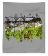 Yaquina Bay Roses Fleece Blanket