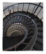 Yaquina Lighthouse Stairway Nautilus - Oregon State Coast Fleece Blanket