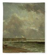Yarmouth Pier Fleece Blanket