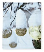 Yarn In The Snow Fleece Blanket