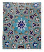 Yazd - Blue Mosaic Fleece Blanket