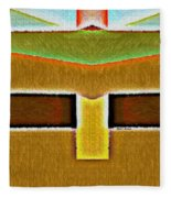 Year 2058 Fleece Blanket by Rafael Salazar