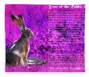 Year Of The Rabbit 2011 . Magenta Fleece Blanket