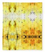 Yellow Abstract Art - Good Vibrations - By Sharon Cummings Fleece Blanket