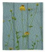 Yellow And Blue Fleece Blanket