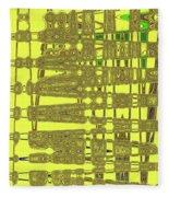 Yellow And Brown Lines Fleece Blanket