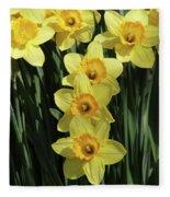 Yellow And Orange Daffodil  #2 Fleece Blanket