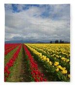 Yellow And Red Fleece Blanket