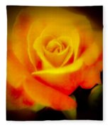 Yellow And Red Rose Fleece Blanket