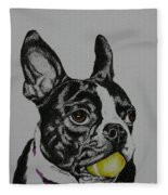 Yellow Ball  Fleece Blanket